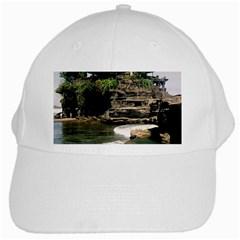 Tanah Lot Bali Indonesia White Cap by Nexatart