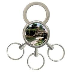 Tanah Lot Bali Indonesia 3 Ring Key Chains