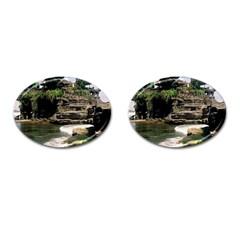 Tanah Lot Bali Indonesia Cufflinks (oval) by Nexatart