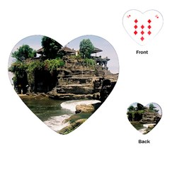 Tanah Lot Bali Indonesia Playing Cards (heart)  by Nexatart