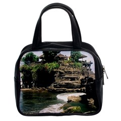 Tanah Lot Bali Indonesia Classic Handbags (2 Sides) by Nexatart