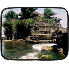 Tanah Lot Bali Indonesia Fleece Blanket (mini)