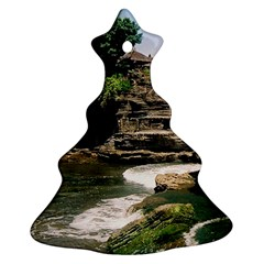 Tanah Lot Bali Indonesia Christmas Tree Ornament (two Sides)