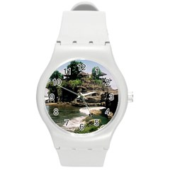 Tanah Lot Bali Indonesia Round Plastic Sport Watch (m) by Nexatart
