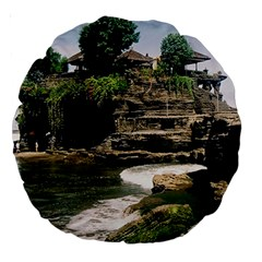 Tanah Lot Bali Indonesia Large 18  Premium Round Cushions by Nexatart