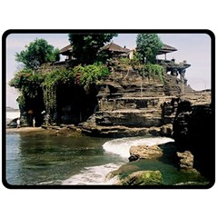 Tanah Lot Bali Indonesia Double Sided Fleece Blanket (large)