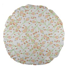 Small Floral Flowers Pattern  Large 18  Premium Round Cushions by paulaoliveiradesign