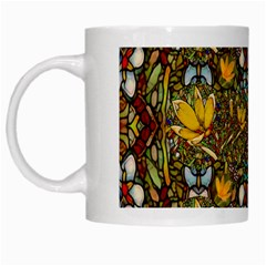 Fantasy Forest And Fantasy Plumeria In Peace White Mugs by pepitasart