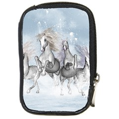 Awesome Running Horses In The Snow Compact Camera Cases by FantasyWorld7