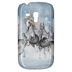 Awesome Running Horses In The Snow Galaxy S3 Mini by FantasyWorld7