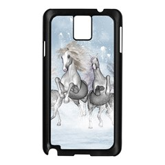 Awesome Running Horses In The Snow Samsung Galaxy Note 3 N9005 Case (black) by FantasyWorld7