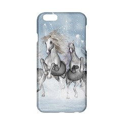 Awesome Running Horses In The Snow Apple Iphone 6/6s Hardshell Case by FantasyWorld7