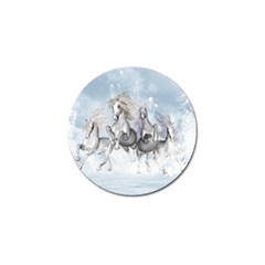 Awesome Running Horses In The Snow Golf Ball Marker (10 Pack)