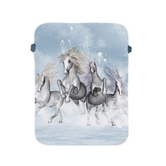 Awesome Running Horses In The Snow Apple Ipad 2/3/4 Protective Soft Cases by FantasyWorld7