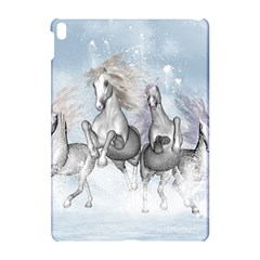 Awesome Running Horses In The Snow Apple Ipad Pro 10 5   Hardshell Case by FantasyWorld7