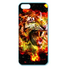 Fire Tiger Apple Seamless Iphone 5 Case (color) by stockimagefolio1
