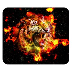 Fire Tiger Double Sided Flano Blanket (small)  by stockimagefolio1