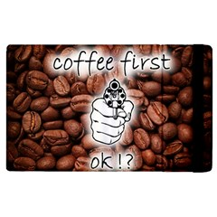 Coffee First, Ok Apple Ipad 3/4 Flip Case by stockimagefolio1