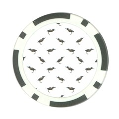 Exotic Birds Motif Pattern Poker Chip Card Guard by dflcprints