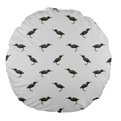 Exotic Birds Motif Pattern Large 18  Premium Flano Round Cushions by dflcprints