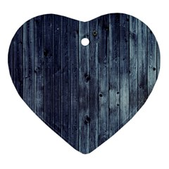Grey Fence 2 Ornament (heart) by trendistuff