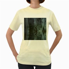 Grey Fence 2 Women s Yellow T Shirt by trendistuff