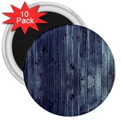Grey Fence 2 3  Magnets (10 Pack)  by trendistuff