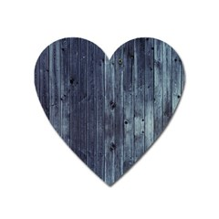 Grey Fence 2 Heart Magnet by trendistuff