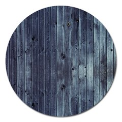 Grey Fence 2 Magnet 5  (round) by trendistuff