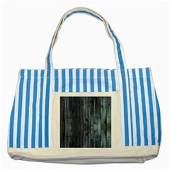 Grey Fence 2 Striped Blue Tote Bag by trendistuff