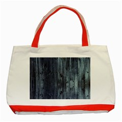 Grey Fence 2 Classic Tote Bag (red) by trendistuff