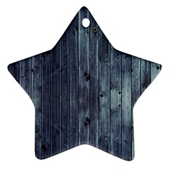 Grey Fence 2 Star Ornament (two Sides) by trendistuff