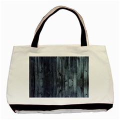 Grey Fence 2 Basic Tote Bag (two Sides) by trendistuff