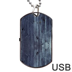 Grey Fence 2 Dog Tag Usb Flash (two Sides) by trendistuff
