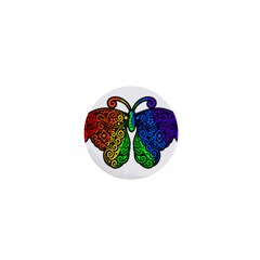 Rainbow Butterfly  1  Mini Buttons by Valentinaart