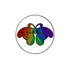 Rainbow Butterfly  Hat Clip Ball Marker (4 Pack) by Valentinaart