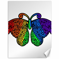 Rainbow Butterfly  Canvas 36  X 48   by Valentinaart