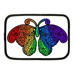 Rainbow Butterfly  Netbook Case (medium)  by Valentinaart