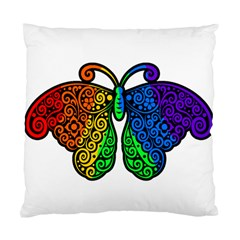 Rainbow Butterfly  Standard Cushion Case (one Side) by Valentinaart