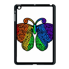 Rainbow Butterfly  Apple Ipad Mini Case (black) by Valentinaart