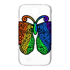 Rainbow Butterfly  Samsung Galaxy S4 Classic Hardshell Case (pc+silicone) by Valentinaart