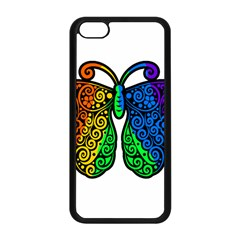 Rainbow Butterfly  Apple Iphone 5c Seamless Case (black) by Valentinaart