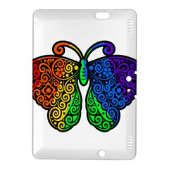 Rainbow Butterfly  Kindle Fire Hdx 8 9  Hardshell Case by Valentinaart
