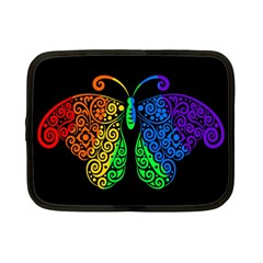 Rainbow Butterfly  Netbook Case (small)  by Valentinaart