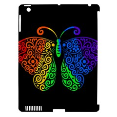 Rainbow Butterfly  Apple Ipad 3/4 Hardshell Case (compatible With Smart Cover) by Valentinaart