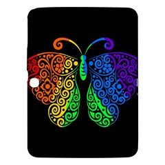 Rainbow Butterfly  Samsung Galaxy Tab 3 (10 1 ) P5200 Hardshell Case  by Valentinaart