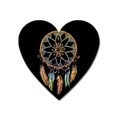 Dreamcatcher  Heart Magnet by Valentinaart
