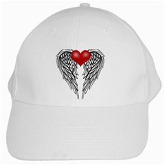 Angel Heart Tattoo White Cap by Valentinaart