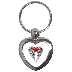 Angel Heart Tattoo Key Chains (heart)  by Valentinaart