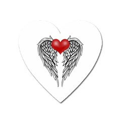 Angel Heart Tattoo Heart Magnet by Valentinaart
